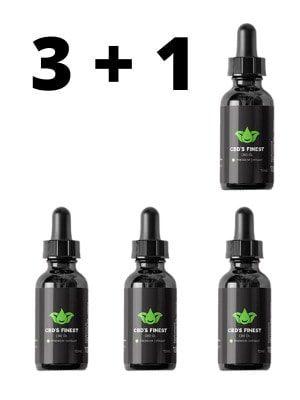 4x Premium CBD-Öl 10% (10ml Flaschen)
